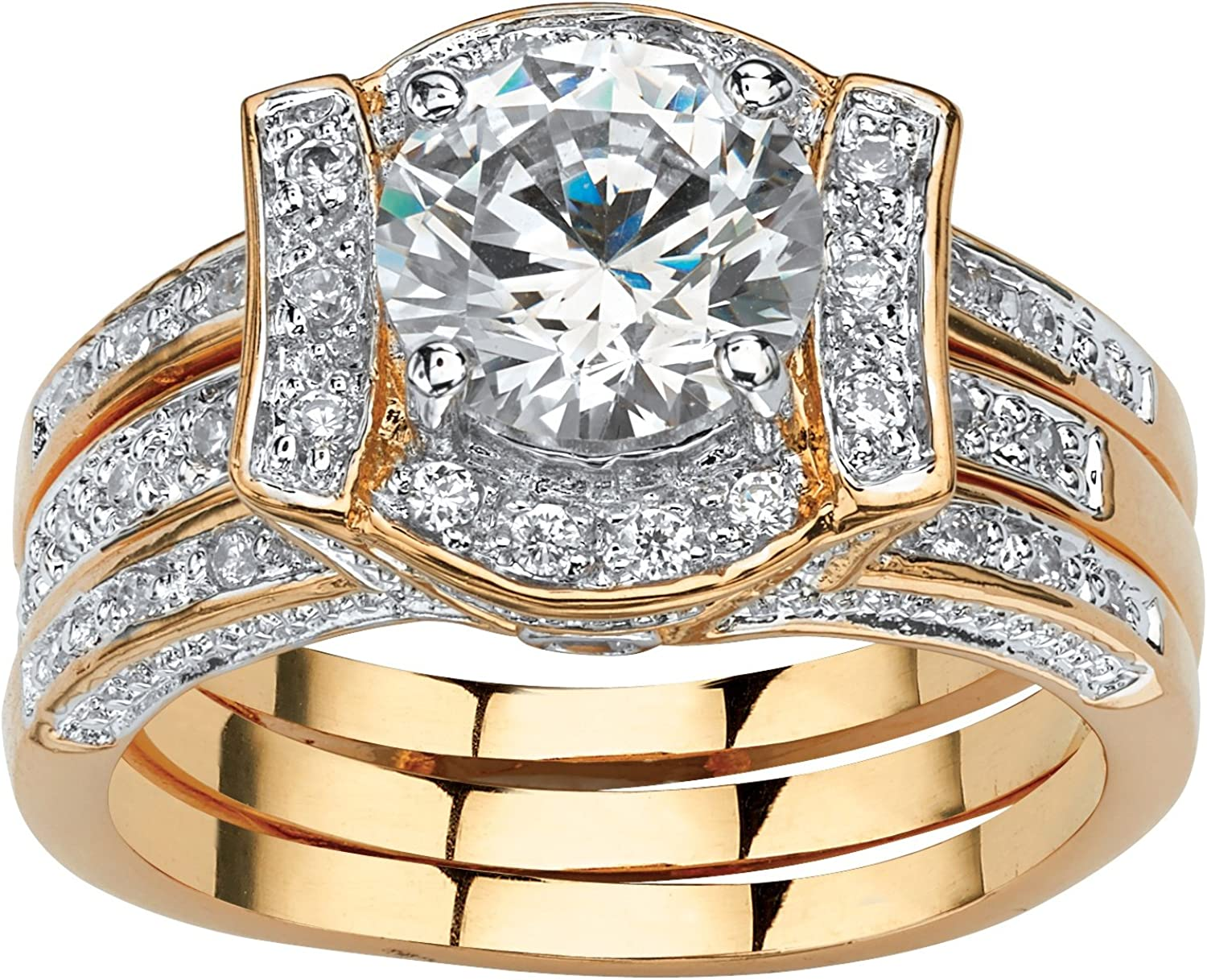 Palm Beach Jewelry Yellow Silver Platinum-Plated Gold-Plated Free Shipping Cheap Bargain Gift or Selling rankings