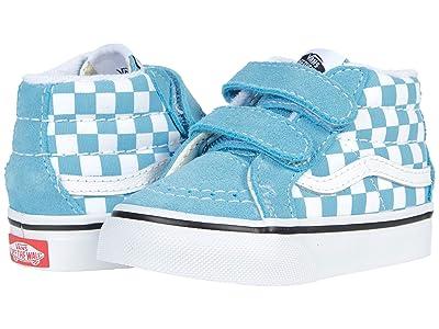 Vans Kids Sk8-Mid Reissue V (Infant/Toddler) ((Checkerboard) Delphinium Blue/True White) Kid