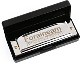 Foraineam 10 Hole Diatonic Harmonica Key of C with Case, Beginners Recommended, Kids Gift Ideas