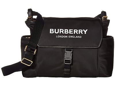 Burberry Kids Flap Diaper Bag (Black 1) Bags