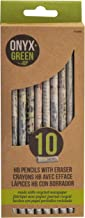 Onyx & Green Newspaper Pencils with Eraser, HB 2, Sharpened, Eco Friendly - 10 pack (1202)