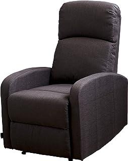 comprar comparacion Astan Hogar Confort Plus Sillón Relax con Reclinación Manual, Tela, Chocolate, Compacto