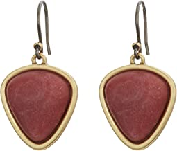 Set Stone Drop Earrings