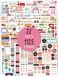 Aesthetic Monthly Planner Stickers - 1100+ Beautiful Design Accessories Enhance and Simplify Your Planner, Journal and Cal...