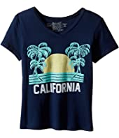 The Original Retro Brand Kids California Short Sleeve V-Neck Tee (Big Kids)