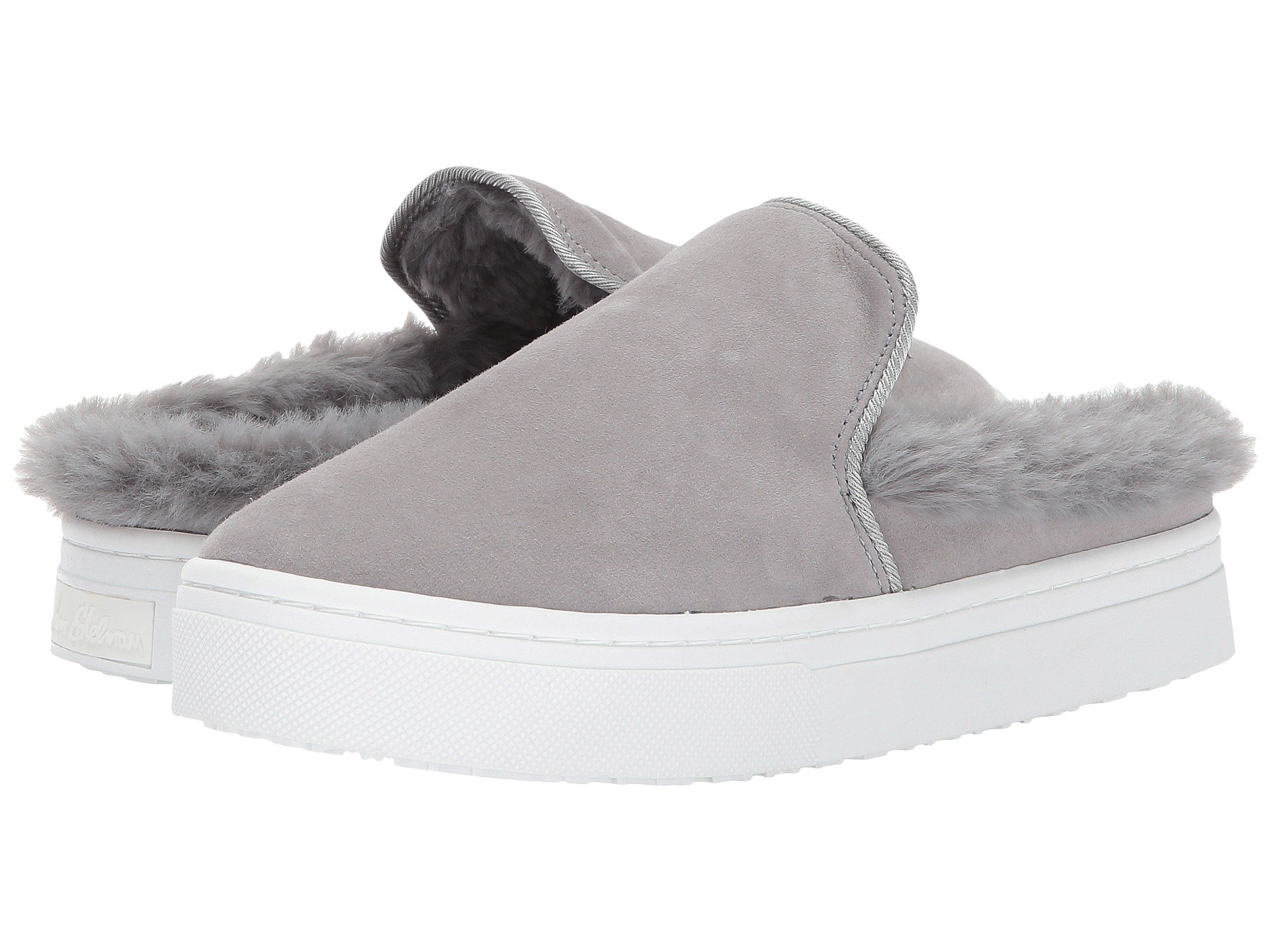 Levonne, Grey Kid Suede Leather/Faux Fur, Grey Suede