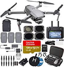 DJI Mavic 2 Pro with Smart Controller (20 MP Hasselblad Camera) Ultimate Bundle (3 Batteries, Charging Hub, ND filterss, 128 GB Extreme microSD Card and More)