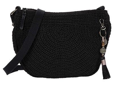 The Sak Ryder Crochet Crescent Crossbody (Black) Handbags