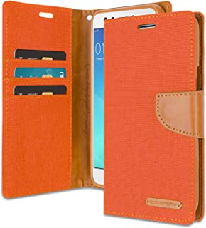 Oppo F3 Wallet Case with Free 4 Gifts [Shockproof] GOOSPERY Canvas Diary Ver.Magnetic [Denim Material] Card Holder with Ki...