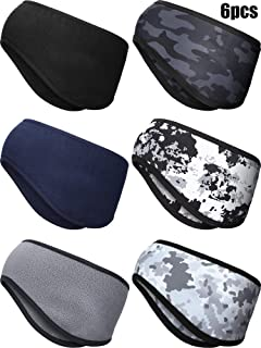 6 Pieces Ear Warmer Headband Winter Sports Headband Full Cover Ear Muff Headband for Fitness Outdoor Sports Activities