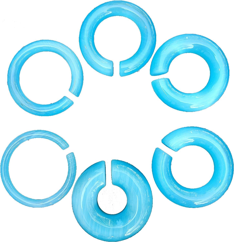 Bandaru cheap Max 41% OFF Organics Aqua Cats Eye Stone Hoop 50mm Weights Large