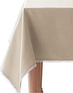 Lenox 7464084OBLNAT French Perle Solid 60x84 Tablecloth, 60