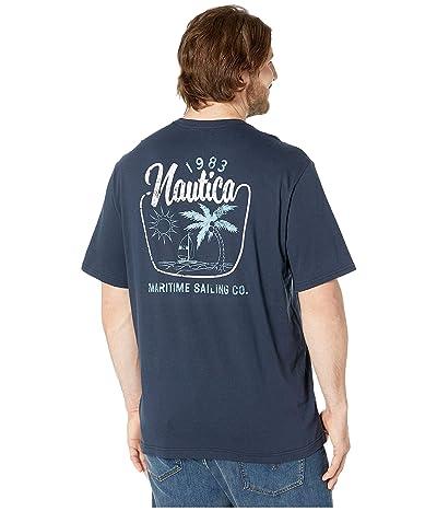 Nautica Big & Tall Big Tall Short Sleeve Maritime Sailing T-Shirt (Navy) Men