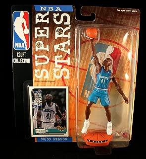 Starting Lineup GLEN RICE / CHARLOTTE HORNETS 98/99 Season NBA SUPER STARS Super Detailed Figure, Display Base & Exclusive Upper Deck Collector Trading Card