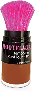 Rootflage Root Touch Up Hair Powder - Temporary Hair Color, Gray Coverage, Root Concealer, Thinning Hair Filler, Dry Shampoo (13 Dark Copper Red)