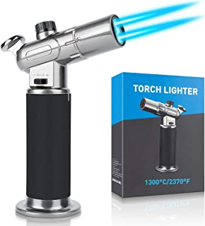 WATSABRO Kitchen Blow Torch,Culinary Butane Torch Lighters Refillable Double Fire Cooking Torch,Mini Adjustable Flame Buta...