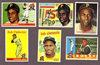 Roberto Clemente (6) Card Topps Reprint Lot #1 1955 Rookie, 1956, 1957, 1958, 1959, and 1960 Cards (Pittsburgh Pirates)