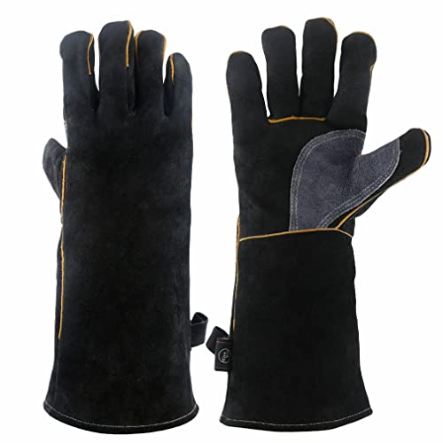 BBQ Gloves Grilling Big Green Egg /& Fireplace Accessories Cut Resistant BlueFire Pro Oven Gloves Forearm Protection -100/% Kevlar 932/°F Heat Resistance