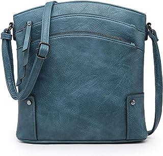 VONMAY Große Crossbody-Taschen für Frauen mit drei Reißverschlüssen, Crossbody-Taschen und Handtaschen