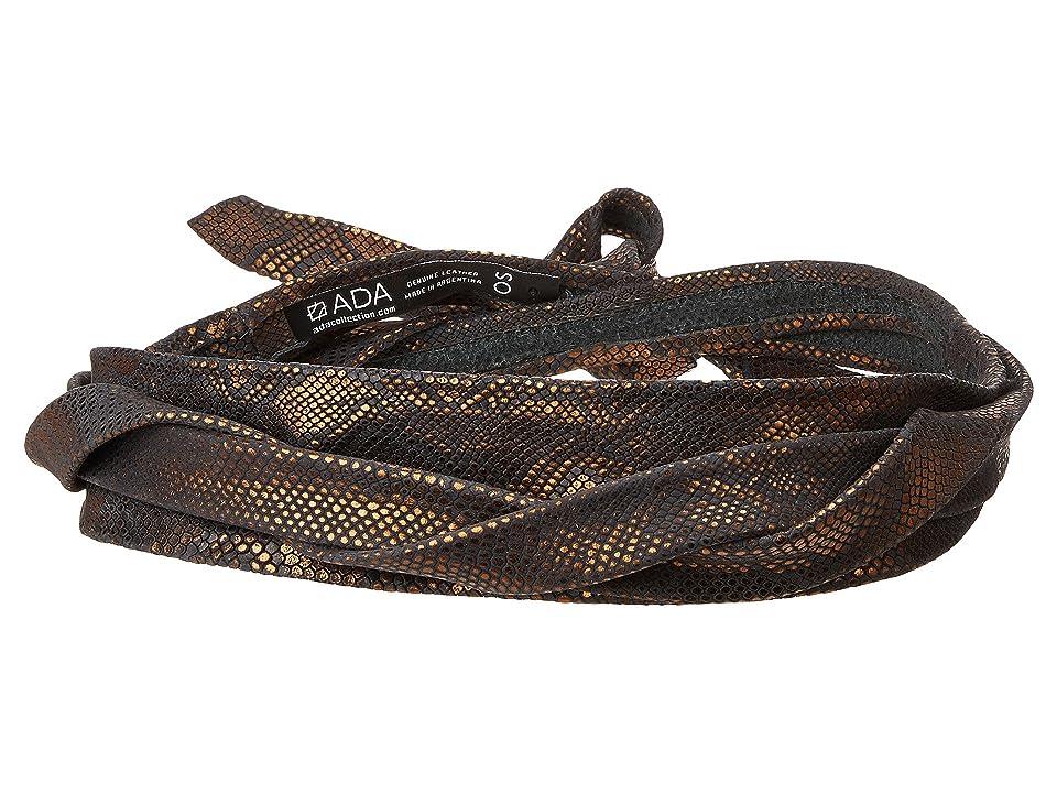 ADA Collection Midi Wrap Belt (Black Snake) Women
