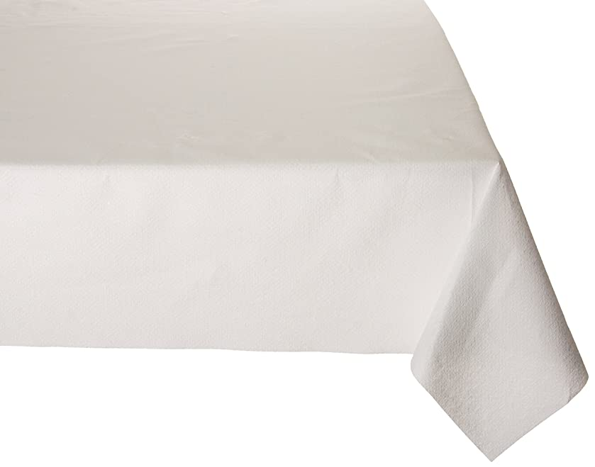 Premium Disposable Rectangle Tablecover, 54 x 102, 3 Ply Cloth-Like Tablecover White 1 Count