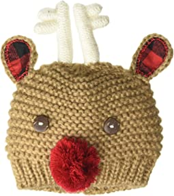 My First Christmas Reindeer Crochet Hat (Infant)