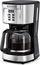 Black+Decker 900W 12 Cup 24 Hours Programmable Coffee Maker with 1.5L Glass Carafe and Keep Warm Feature for Drip Coffee a...