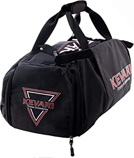 KEVARI 3-in-1 Duffle, Backpack and Gym Bag with Shoe Pocket, Black, Sport and Fitness Equipment and Accessories Organizer ...