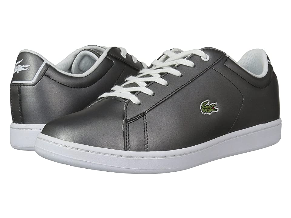Lacoste Kids Carnaby Evo (Little Kid/Big Kid) (Gunmetal/White) Kids Shoes