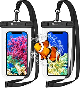 Syncwire Waterproof Phone Pouch [2-Pack] - Universal IPX8 Waterproof Phone Case Dry Bag with Lanyard Compatible with iPhone 12/11 Pro XS MAX XR X 8 7 6 Plus SE Samsung S10+ and More Up to 7 Inches