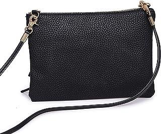 2e6b651e65d2 BYEEE Women s Multi-Pocket Smooth Zipper Cross Body Bag Cellphone Pouch  Small Handbag Coin Purse