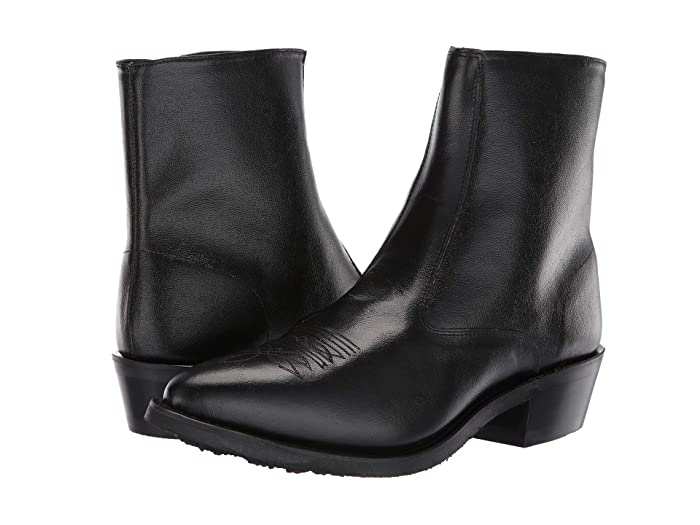 Mens Retro Shoes | Vintage Shoes & Boots Old West Boots Nashville Black Cowboy Boots $65.99 AT vintagedancer.com