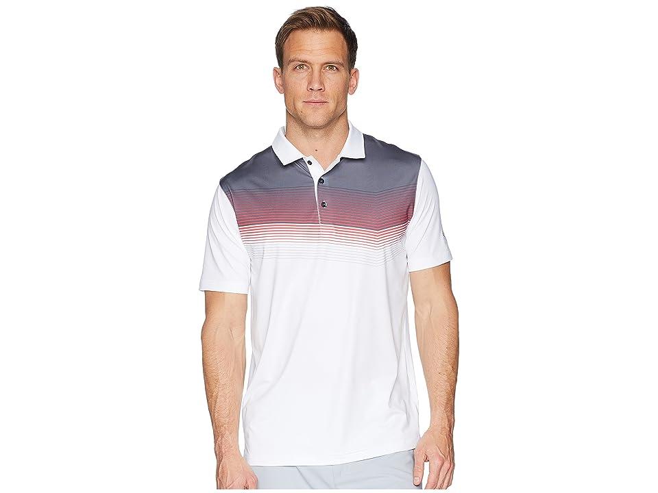 PUMA Golf Road Map Polo (Bright White/Paradise Pink) Men