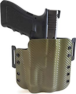 Tru-Fit Tactical OWB Kydex Gun Holster (Carbon OD Green) for OLIGHT PL 1 II Available for 45+ Gun Models