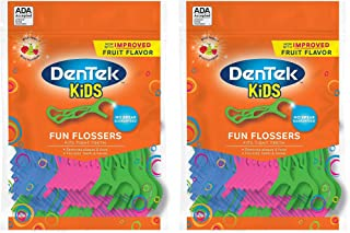 DenTek Kids Fun Flossers Wild Fruit | 75-Count Floss Picks
