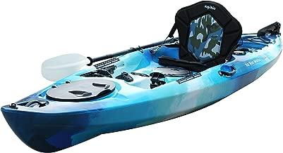 green fishing kayak