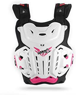 Leatt 5016300100 4.5 Jacki Chest Protector (White/Pink, One Size)