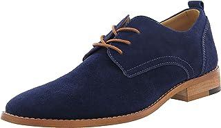 58da5e011907ef Livraison GRATUITE. 4How® Chaussures de Ville Homme-Homme Chaussure  Mocassin Derby Homme à Lacets-pour