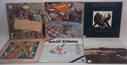 Classic Rock Lot of 6 Vinyl Record Albums The Moody Blues, Van Halen, Todd Rundgren, Triumph, Three Dog Night, and more