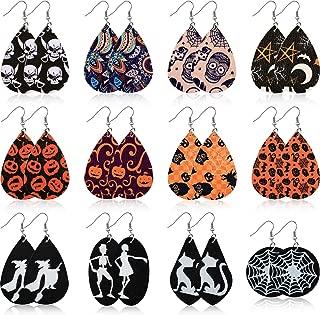 Best faux leather earrings Reviews