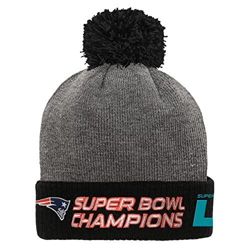 c13a21d4b Outerstuff NFL New England Patriots Super Bowl 51 Champions Cuff Pom,  Charcoal, One Size
