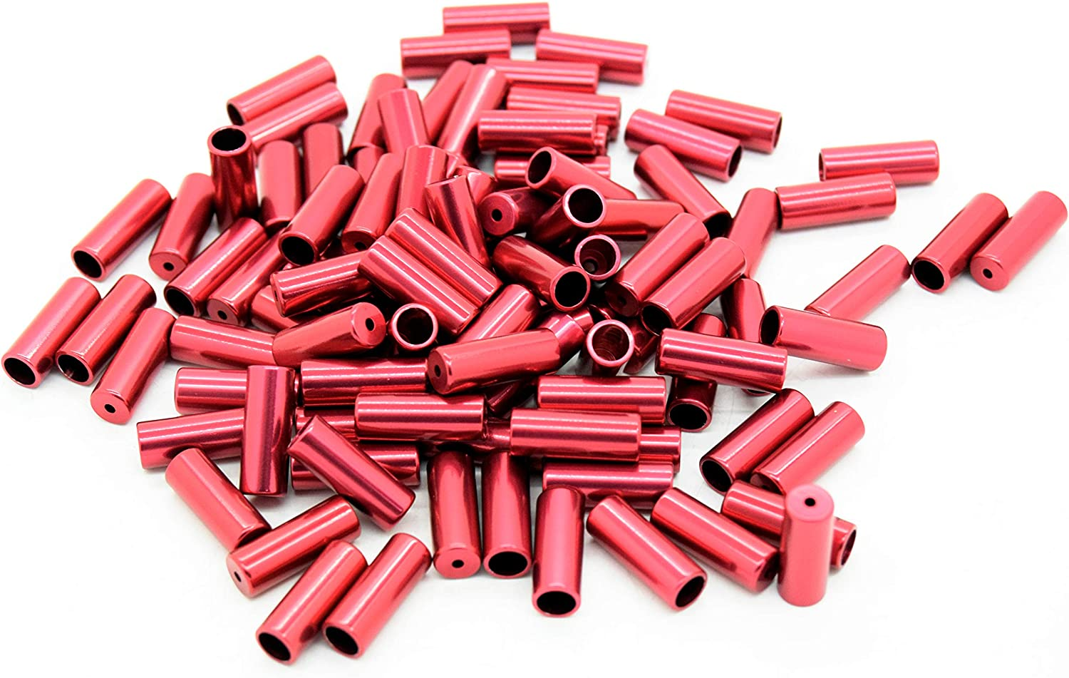 OFFer Transfil High material Unisex's Gear Cable Outer Ferrule Red Pack 100 4mm of