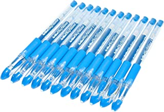 Artline Softline 1700 Gel Pen 0.7mm, Pack of 12 Pcs, Light Blue Color, Rubberised Soft Grip - ARBNEGB-1700LBL