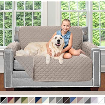 Amazon Com Sofa Shield Original Patent Pending Reversible Chair Protector For Seat Width Up To 48 Inch Furniture Slipcover 2 Inch Strap Chairs Slip Cover Throw For Pets Kids Cats Armchair Dog Chocolate