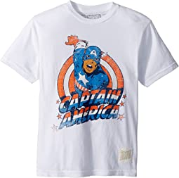 Vintage Cotton Captain America Tee (Big Kids)