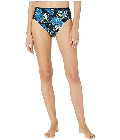 MICHAEL Michael Kors Bold Tropical Bliss High-Waisted Bikini Bottoms (Black Multi) Women