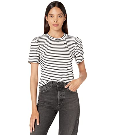 BCBGeneration Striped Puff Sleeve T-Shirt 1TX1P50