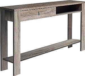 OVERHOME365 1233 CM - Consola rustica, madera, color cambrian, 120x30x78 cm