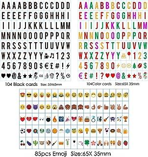 sanyan pequeño Juego de letras A4Caja de luz–293Negra plättchen letras Números símbolos RAMPAS para–LED Lightbox Bombilla Buzón Ampliación