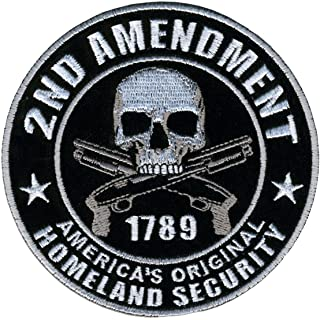 "Hot Leathers PPA5950 Homeland Security 2nd Amendment Support Patch (4"" Width x 4"" Height)"